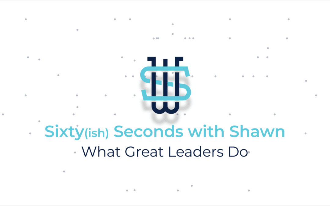 What Great Leaders Do